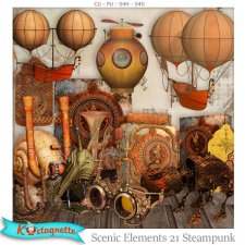 Scenic Elements 21 Steampunk by Kastagnette