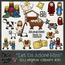 Christmas - Nativity themed - CU clipart Kit