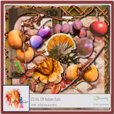 vol 139 Autumn Fruits Elements EXCLUSIVE bymurielle