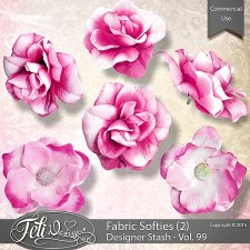 Designer Stash Vol 99 Fabric Softies 2 - CU by Feli Designs