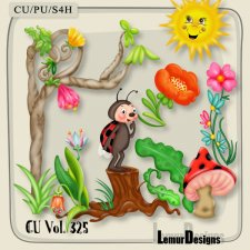 CU Vol 325 Forest Animals Flowers by Lemur Designs