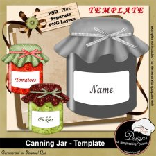 Canning Jar TEMPLATE by Boop Designs