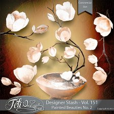 Designer Stash Vol 151 - Painted Beauties No 2 by Feli Designs