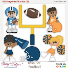 Time for Football Team Spirit Element Templates