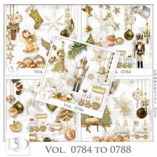 Vol. 0784 to 0788 Winter Christmas Mix by D's Design