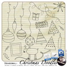Seasonal: Christmas Doodles by MoonDesigns