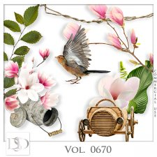 Vol. 0670 Nature Floral Mix by D's Design