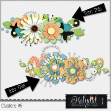 Clusters Layered Templates Pack No 5