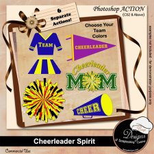 Cheerleader ACTION by Boop Designs