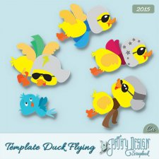 Template Duck Flying Pathy Design