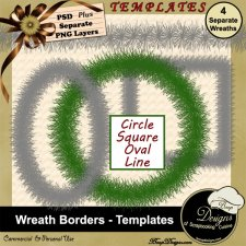 Wreath Borders - TEMPLATES byBoop Designs