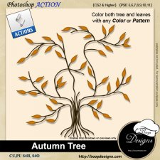 Autumn Tree ACTION by Boop Designs