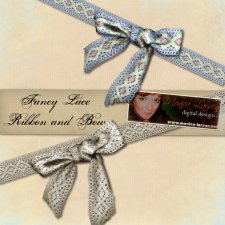 Fancy Lace - ribbon & bow action by Monica Larsen