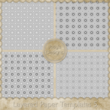 Layered Paper Templates 5 by Josy