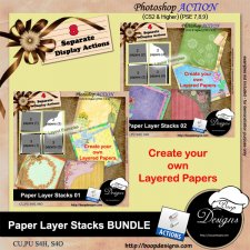 Paper Layer Stacks BUNDLE ACTION by Boop Designs