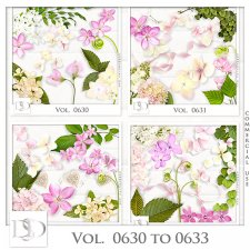 Vol. 0630 to 0633 Nature Floral Mix by D's Design
