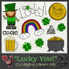 Lucky You CU clipart