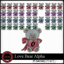Love Bear Alpha CU4CU by Happy Scrap Arts