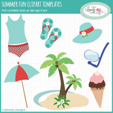 Summer clipart templates Lilmade Designs