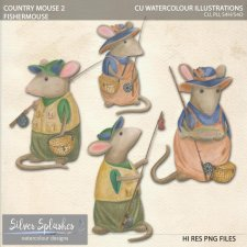 EXCLUSIVE Country Mouse 2 Watercolour by Silver Splashes
