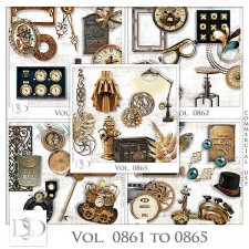Vol. 0861 to 0865 Steampunk Mix by D's Design