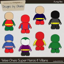 Wee Ones - Heroes & Villains - EXCLUSIVE Designs by Ohana