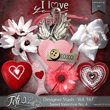 Designer Stash Vol 167 - Sweet Valentine No. 4 by Feli Designs