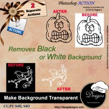 Make Background Transparent ACTION by Boop Designs