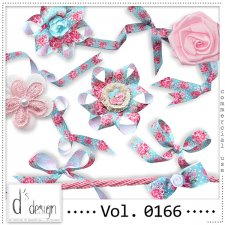 Vol. 0166 Shabby Chic Ribbons Mix by Doudou Design