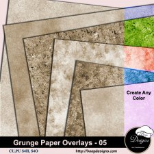 Grunge Paper Overlays 05 by Boop Designs