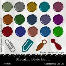Metallic Style Set 1 by Cida Merola