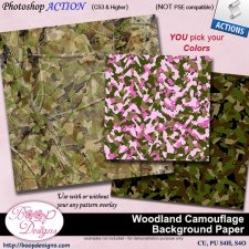 Woodland Camouflage Background Paper ACTION by Boop Designs