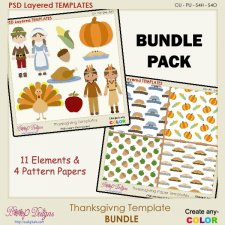 Thanksgiving Layered TEMPLATE BUNDLE