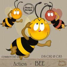 Action - Bee by Rose.li