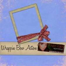 Wrappin Bow Frame ACTION by Monica Larsen
