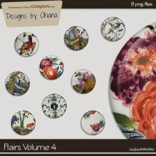 Flairs Vol 4 - Flower- EXCLUSIVE Designs by Ohana