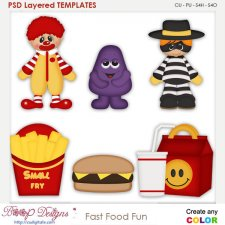 Fast Food Fun Layered Element Templates