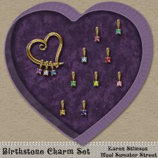 Birthstone Charm Set by Karen Stimson