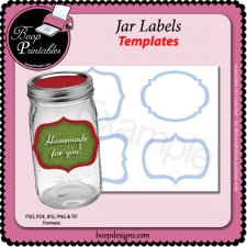 Jar Label TEMPLATE by Boop Printable Designs
