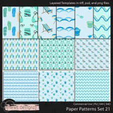 EXCLUSIVE Layered Paper Patterns Templates Set 21 by NewE Designz