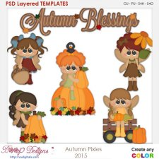 Autumn Pixies Kids 2 Element Templates