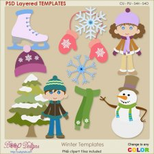 Winter Time Layered Templates