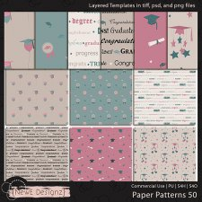 EXCLUSIVE Layered Paper Patterns Templates Set 50 by NewE Designz