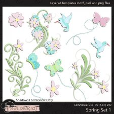 EXCLUSIVE Layered Spring Set 1 Templates by NewE Designz