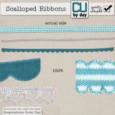 Scalloped Ribbons - CUbyDay EXCLUSIVE