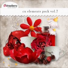Red Berry Bouquet Element Mix Vol 7 by Strawberry Designs