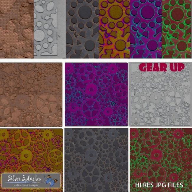 EXCLUSIVE Gear Up papers by Silver Splashes
