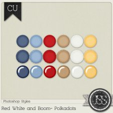 Red White and Boom Polkadots PS Styles by Just So Scrappy