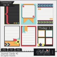 Journal or Pocket Scrapbooking Cards Layered Templates Pack No 3