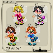 CU Vol 597 Bees by Lemur Designs
